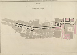 PLAN OF A NEW STREET FROM CHARING CROSS TO PORTLAND PLACE